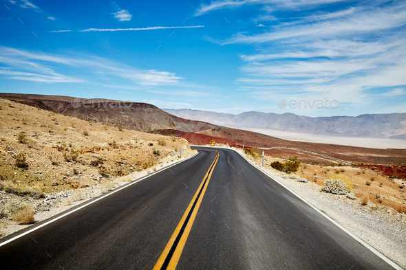 Picture of a desert road. - Stock Photo - Images