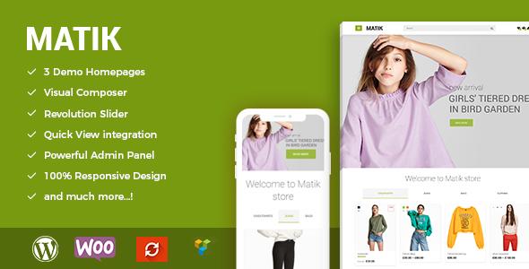 Matik - Minimalist WooCommerce WordPress Theme - WooCommerce eCommerce