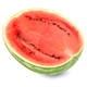 Sweet watermelon half, front view, on white background - PhotoDune Item for Sale