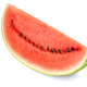 Sweet watermelon slice, front view, on white background - PhotoDune Item for Sale