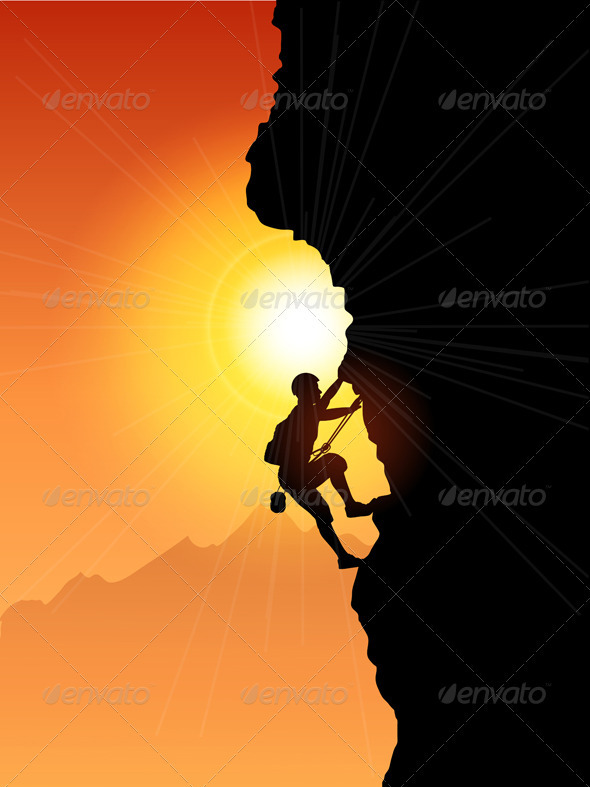 Rock climber - Sports/Activity Conceptual