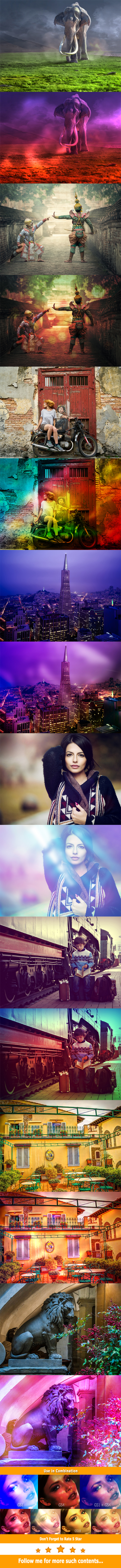 20 Unique Gradients with Unlimited Results Photoshop Template