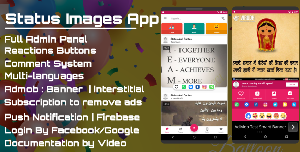 Status Images App - Pro - CodeCanyon Item for Sale