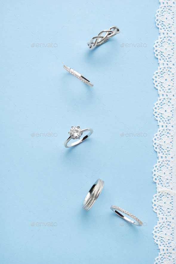 Silver rings. - Stock Photo - Images