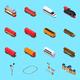 Railroad Isometric Elements
