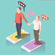 Virtual Love Isometric Composition