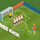 Free Kick Isometric Background