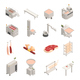 Sausage Factory Isometric Icons