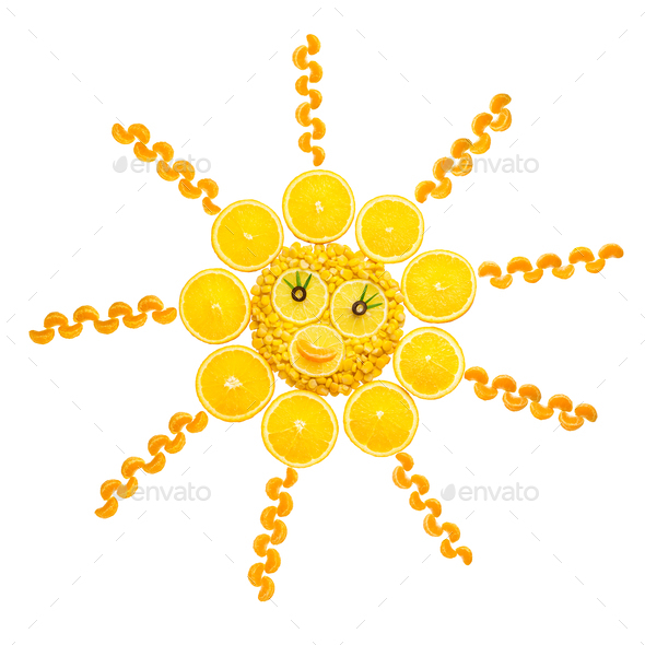 Vegetable sun. - Stock Photo - Images