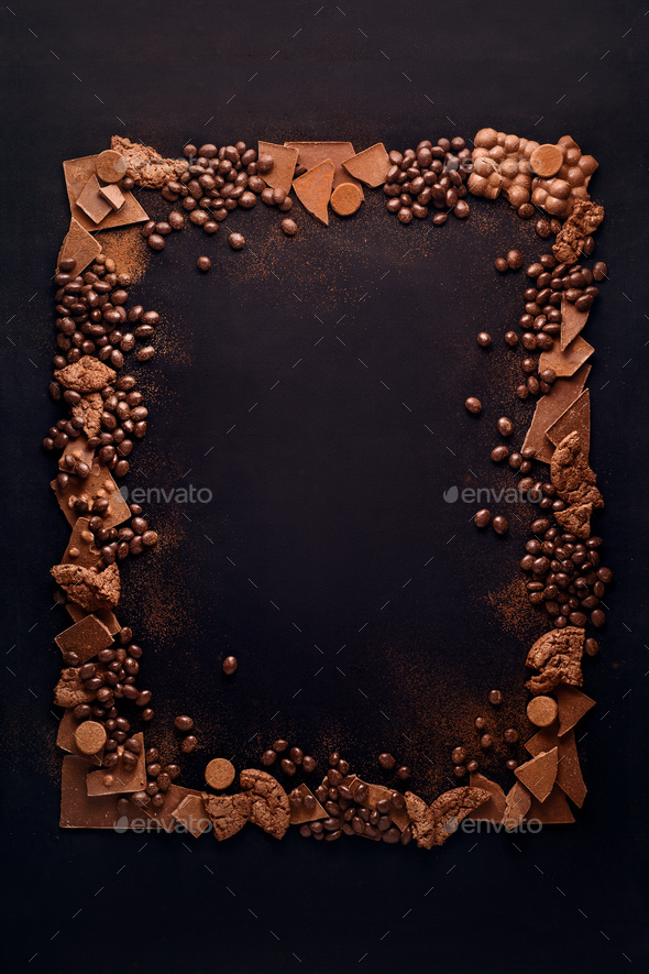 Chocolate frame. - Stock Photo - Images