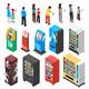 Vending Machines Isometric Set