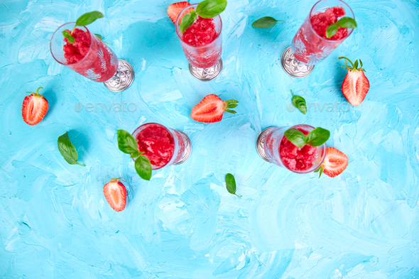 Summer refreshing strawberry granita - Stock Photo - Images