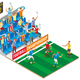 Football Championship Isometric Composition