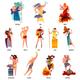 Ancient Greece Gods Cartoon Set