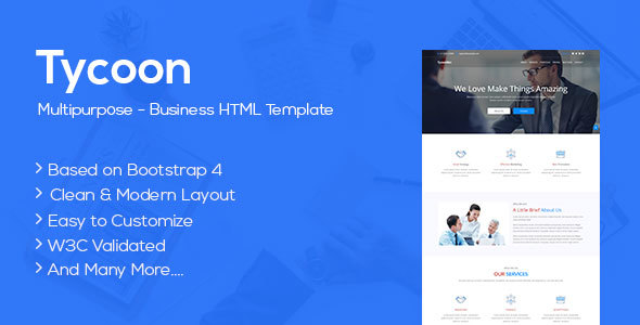 Tycoon - Multipurpose Business HTML5 Template