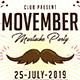 Movember Mustache Party - GraphicRiver Item for Sale