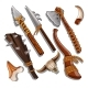 Set Ancient of Hunting and Military Weapons