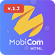 MobiCom - Mobile App Landing Pages Pack