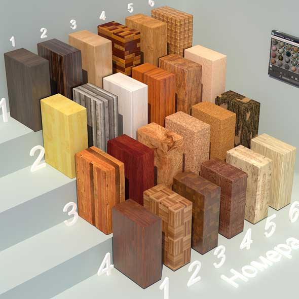 Wood materials. Set-1 - 3DOcean Item for Sale