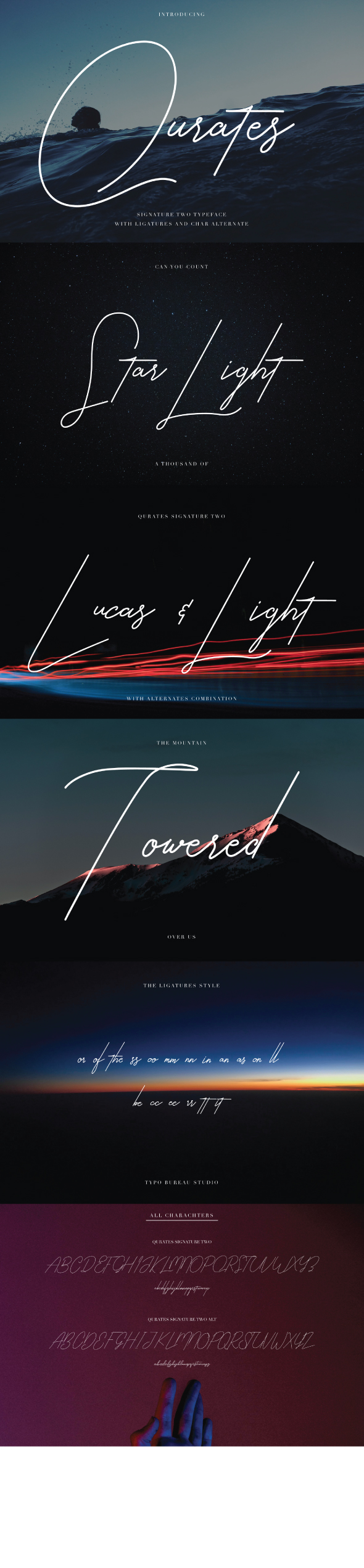 Qurates Signature Two with Alt - Script Fonts