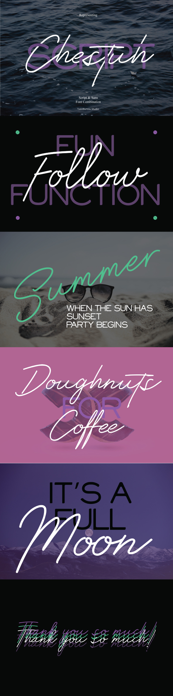 Chestuh script and sans - Script Fonts