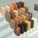 Wood materials. Set-4 (24 materials)