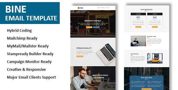 Image of Bine - Multipurpose Responsive Email Template with Online StampReady Builder Access