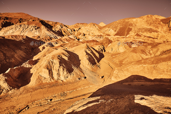 Mars-like deserted land of the Death Valley, USA. - Stock Photo - Images
