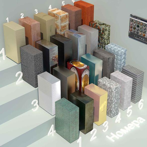 material metall_4 (24 materials) - 3DOcean Item for Sale