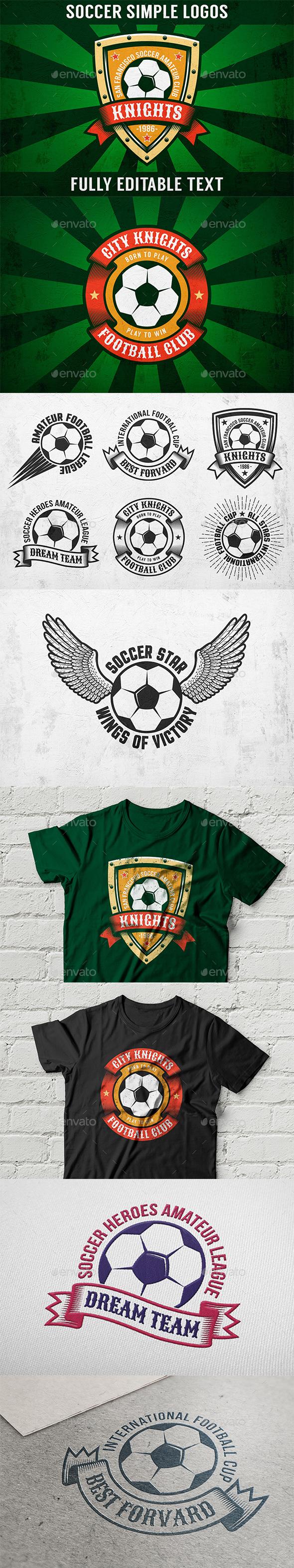 Soccer Simple Logo Set - Sports/Activity Conceptual