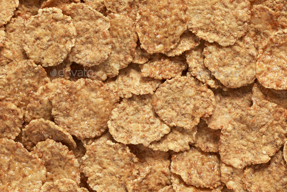 Wheat flakes background - Stock Photo - Images