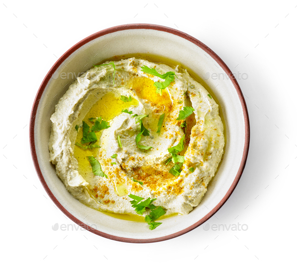 bowl of hummus - Stock Photo - Images
