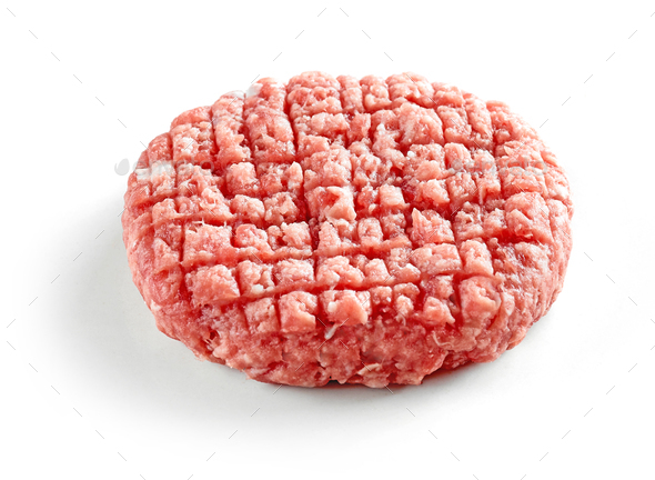 fresh raw burger meat - Stock Photo - Images