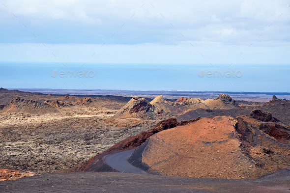 Volcano of Lanzarote Island, Spain - Stock Photo - Images
