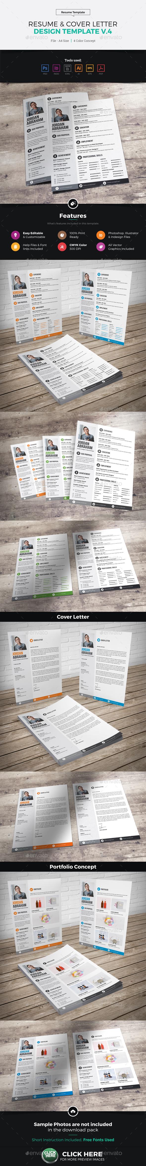 Resume & Cover Letter Design v4 - Resumes Stationery