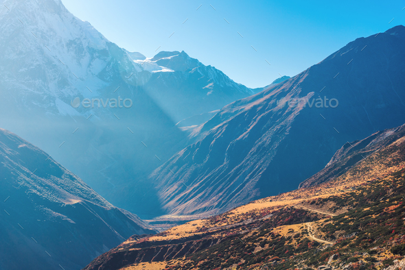 Beautiful view of mountain valley. Landscape - Stock Photo - Images