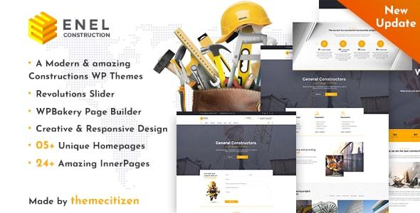 Enel - Construction & Building WordPress Theme - Business Corporate