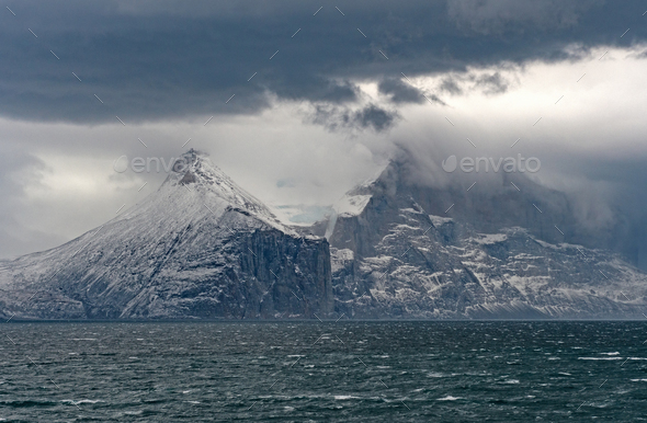 Storm over the Coastal Mountains - Stock Photo - Images