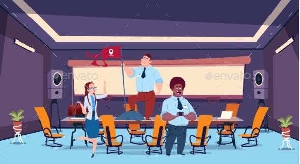 Business Presentation Flag Bubble Concept - Business Conceptual