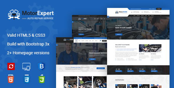 Motor Expert || Auto Mechanic & Car Repair HTML Template - Business Corporate