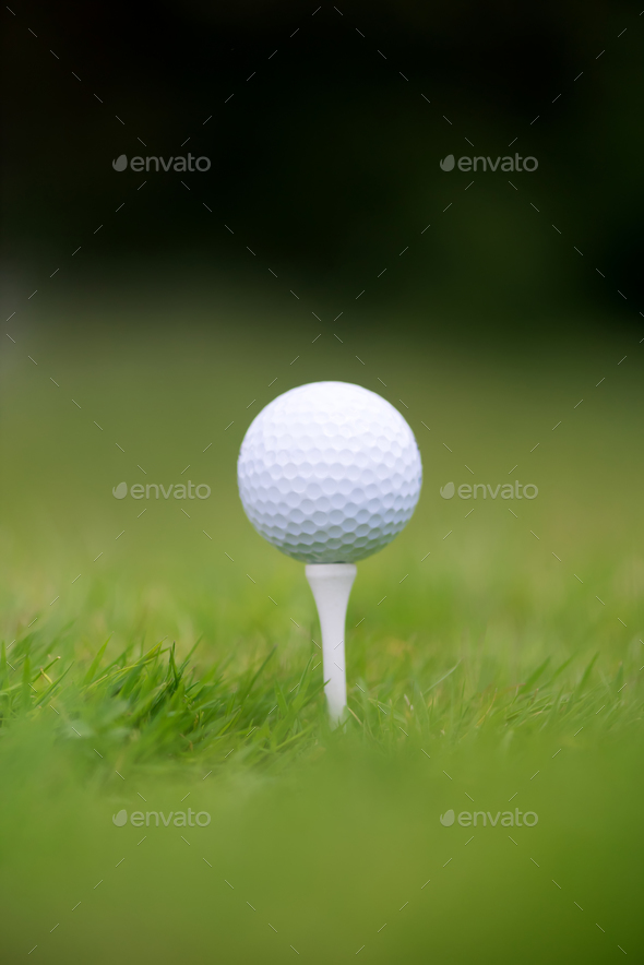 Golf ball in grass - Stock Photo - Images