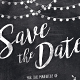 Chalk Save the Date Invitation,