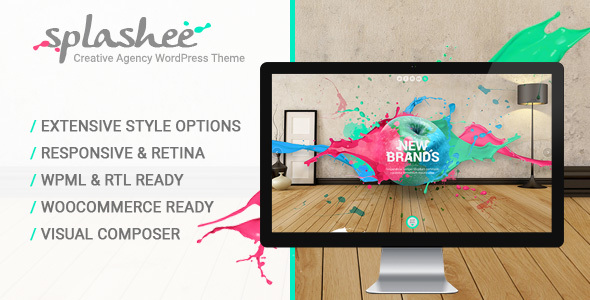 Splashee - Creative Agency WordPress Theme - Creative WordPress