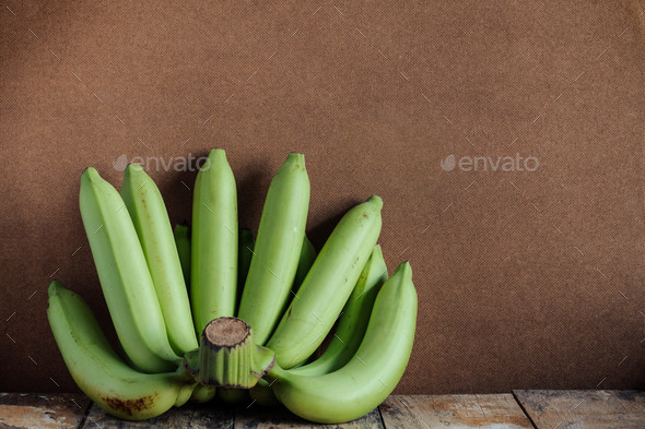 bananas on old wood - Stock Photo - Images