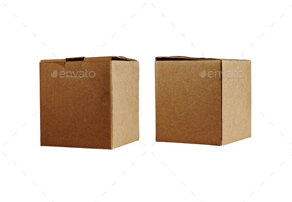box on a white background - Stock Photo - Images