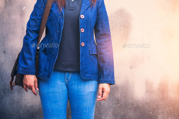 woman with fashionable jeans - Stock Photo - Images