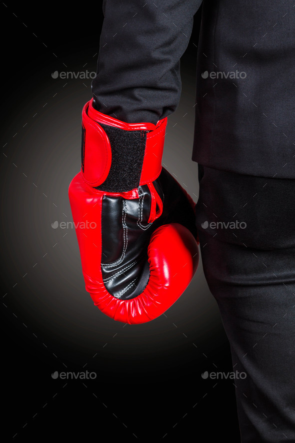 Hands of boxing gloves - Stock Photo - Images