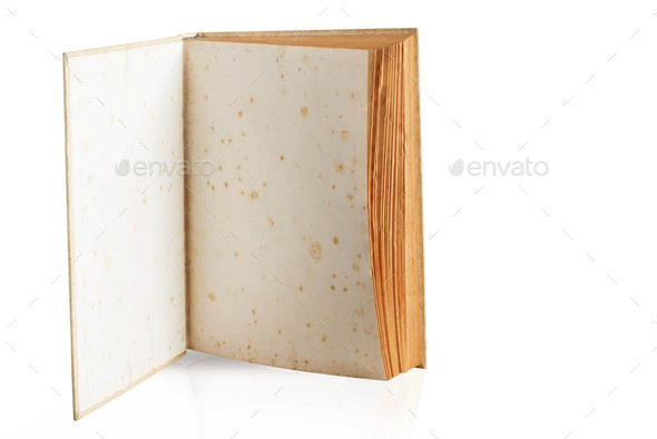 Old books on white background - Stock Photo - Images