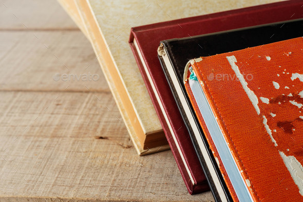 Old books on wooden - Stock Photo - Images