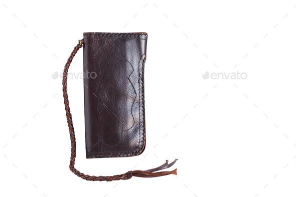 purse on white background - Stock Photo - Images